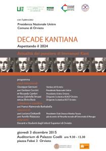 Orvieto - decade kantiana