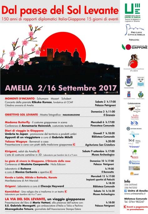 AMELIA Locandina Evento Giappone set 2017