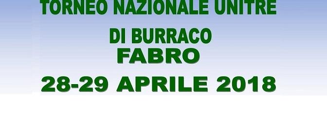 Torneo Nazionale UNITRE di BURRACO