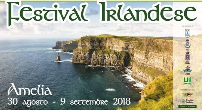 Festival irlandese – Amelia, 30 agosto – 9 settembre 2018