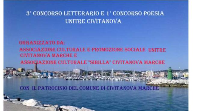 UNITRE di Civitanova Marche:  III Premio letterario Unitre Civitanova – I concorso di poesia.